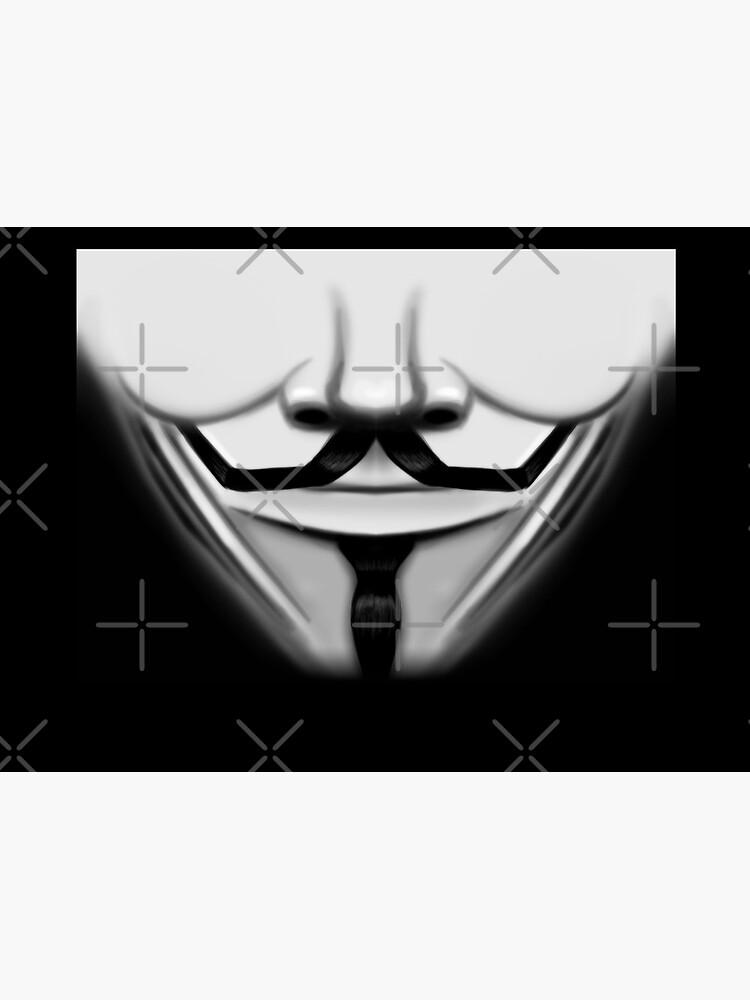 Anonymous Hero Guy Fawkes Smiling mouth cool movie (Quarantine Vendetta Face Mask coronavirus 2020 trendy style) by frikybomb