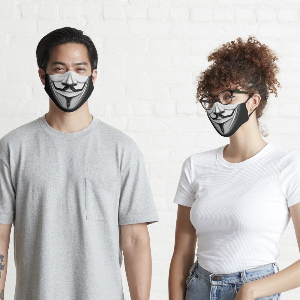 Anonymous Hero Guy Fawkes Smiling mouth cool movie (Quarantine Vendetta Face Mask coronavirus 2020 trendy style) Mask