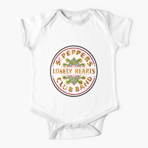 beatles lonely heart Short Sleeve Baby One-Piece