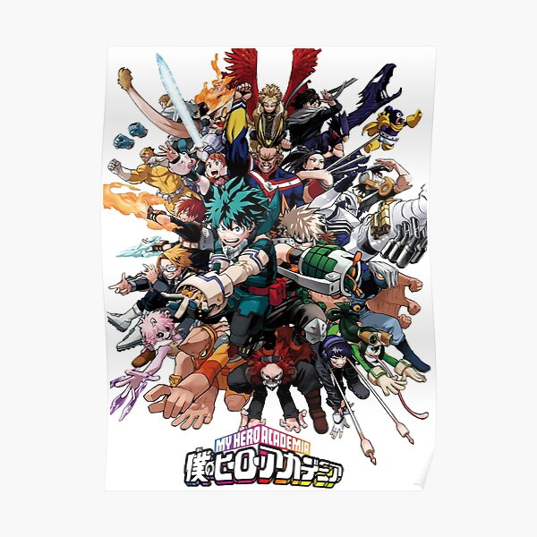 My Hero Academia All Character Design Poster