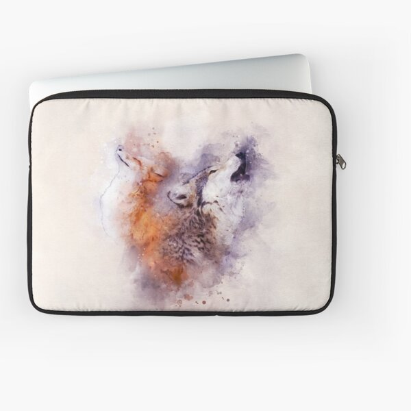 fox and wolf Laptop Sleeve