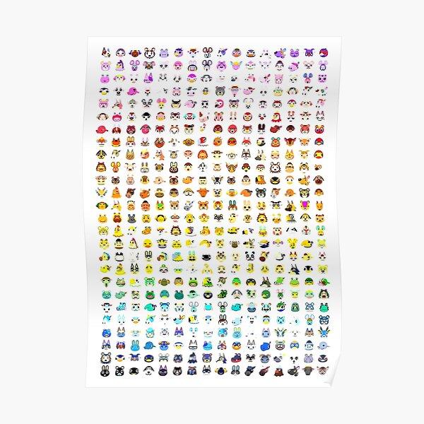 Animal Crossing Villager Rainbow Poster