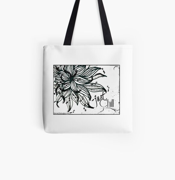 Rachel Doodle Art - Just Chill All Over Print Tote Bag