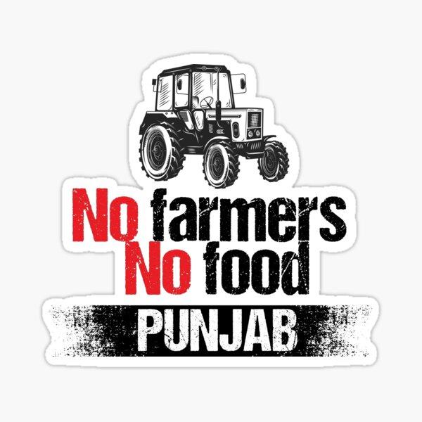 Punjab farmers Sticker