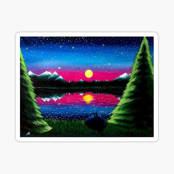 Summer's Final Moon Sticker