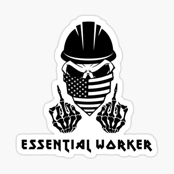 Essential Worker - Construction Worker Sticker