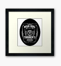 Old Mad Dog Tannen's Whiskey Framed Print