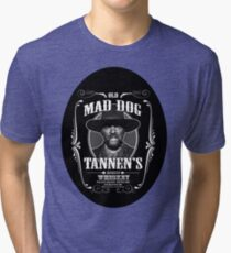 Old Mad Dog Tannen's Whiskey Tri-blend T-Shirt