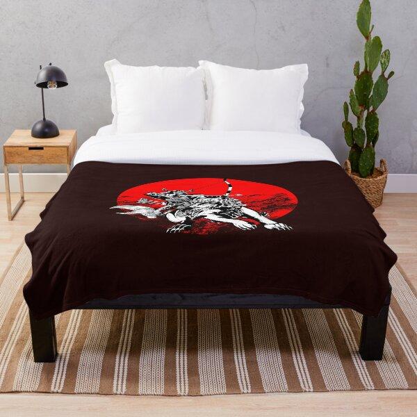 Samurai Tattoo Throw Blanket