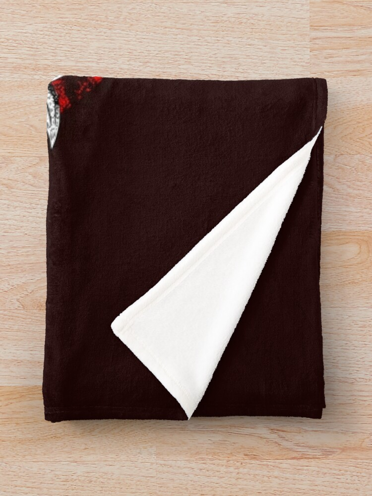 Alternate view of Samurai Tattoo Throw Blanket