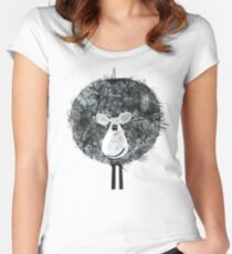 Sheepish Tee (large version) Women's Fitted Scoop T-Shirt