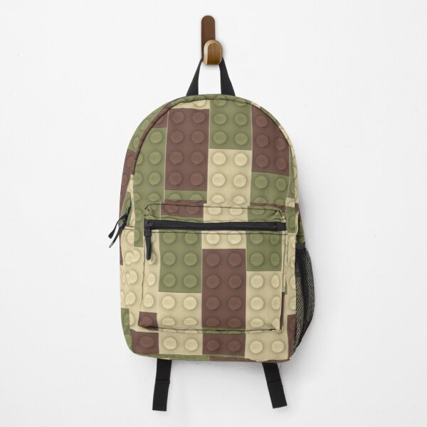 Olive Brick Brown Brick Tan Brick Backpack