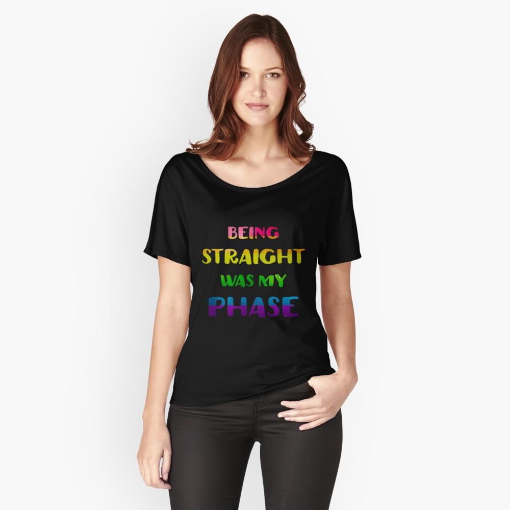 Gerade zu sein war meine Phase LGBT Pride Loose Fit T-Shirt