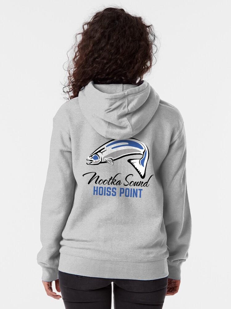 Alternate view of Hoiss Point - Nootka Sound - Salmon Logo Zipped Hoodie