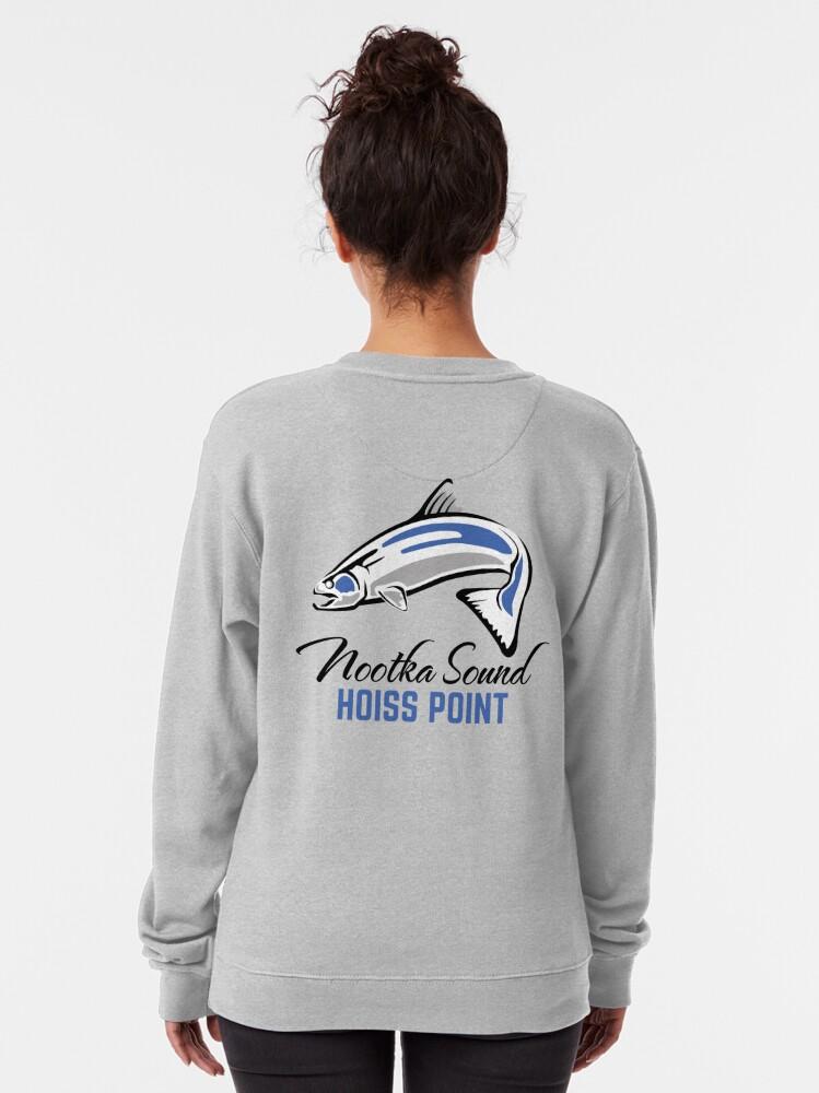 Alternate view of Hoiss Point - Nootka Sound - Salmon Logo Pullover Sweatshirt