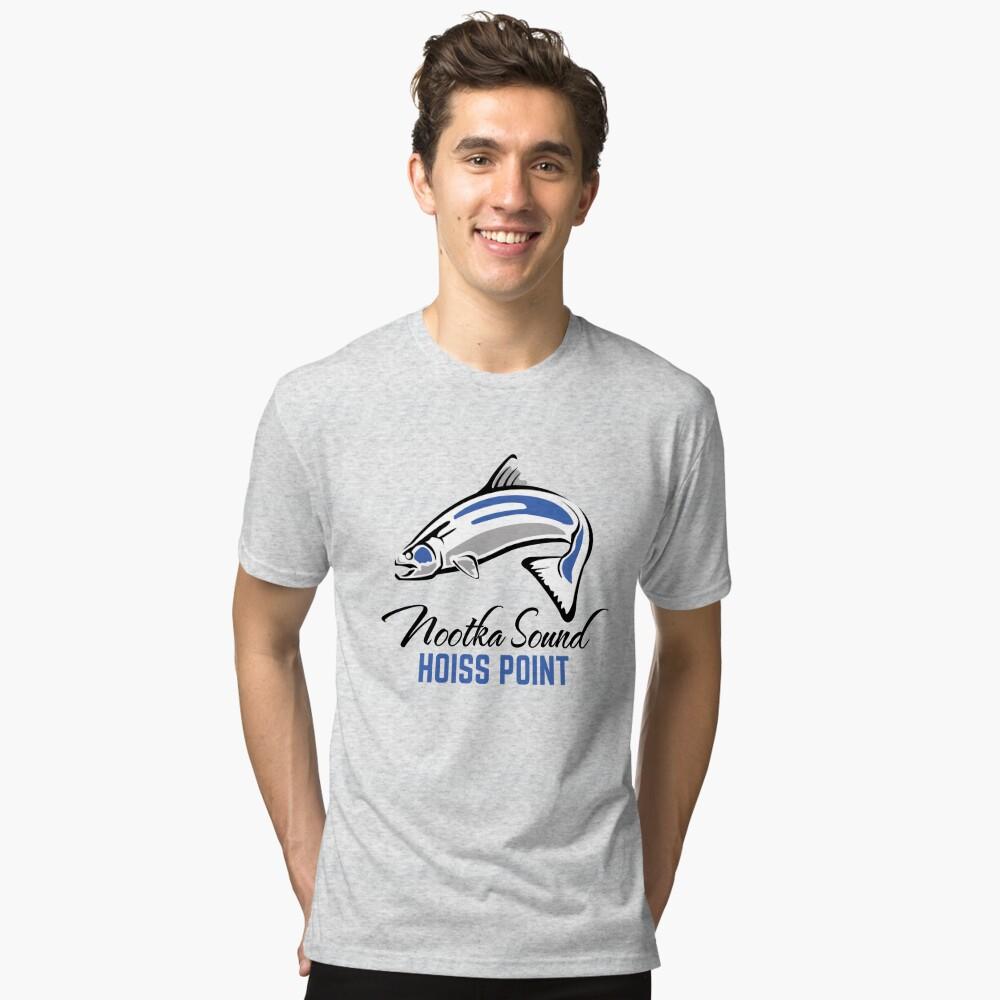 Hoiss Point - Nootka Sound - Salmon Logo Tri-blend T-Shirt