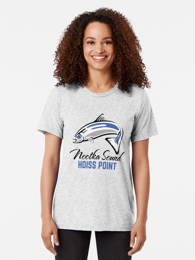 Alternate view of Hoiss Point - Nootka Sound - Salmon Logo Tri-blend T-Shirt