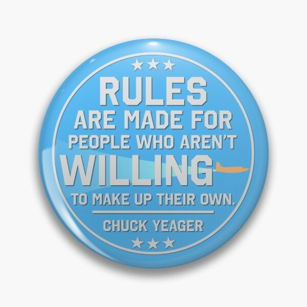 Chuck Yeager Sticker Pin