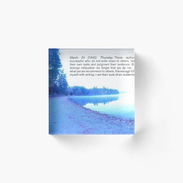 Thoreau on Writing Acrylic Block