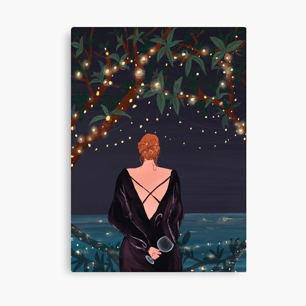 Under The Lights at Night Canvas Print