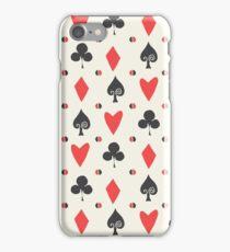 Hearts Clovers alice in wonderland fairy tale minimal kids nursery pattern pink and green iPhone Case/Skin