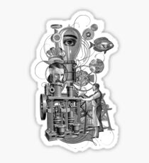 Steampunk surreal machine Sticker