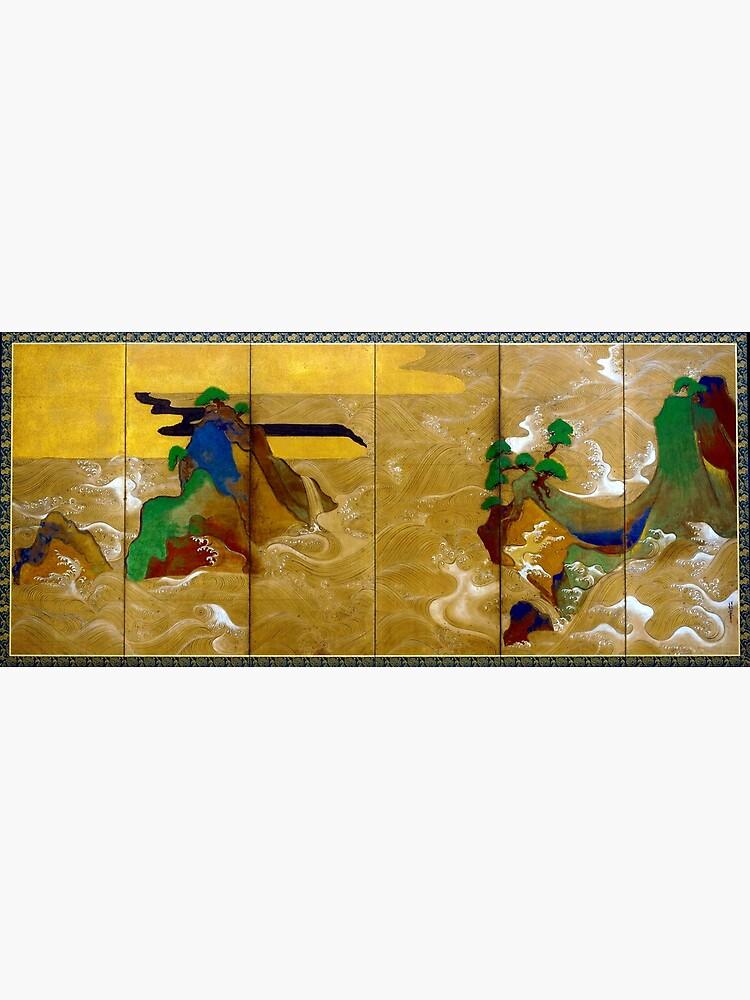 Tawaraya Sotatsu Waves at Matsushima by pdgraphics
