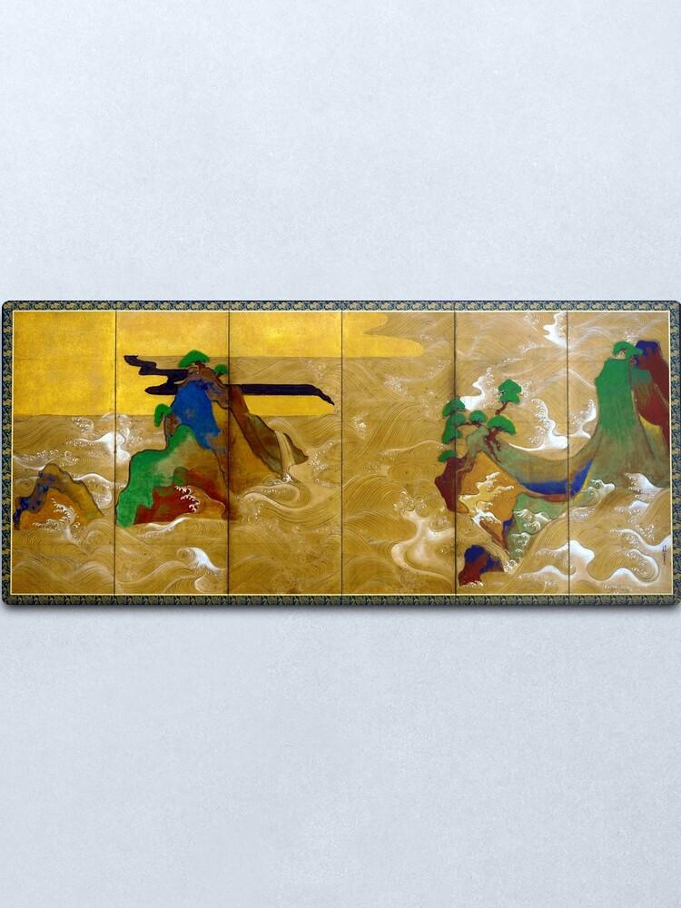 Alternate view of Tawaraya Sotatsu Waves at Matsushima Metal Print