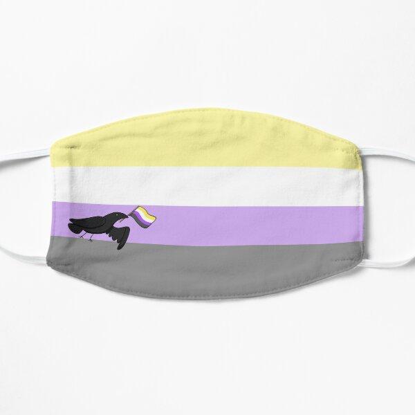 Pride Corvids - Nonbinary Flat Mask