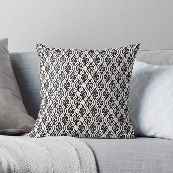 Japanese traditional pattern: Kumo Tatewaku (Cloud Stripe) Throw Pillow