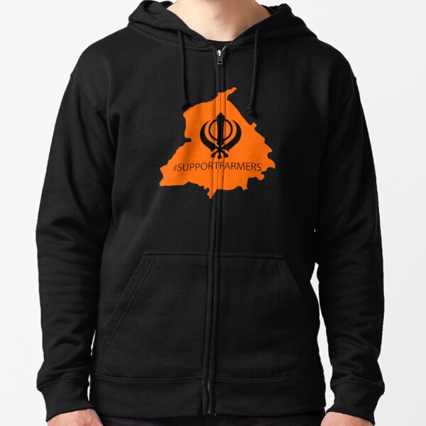 Support Punjabi Farmers - Kisan Zipped Hoodie