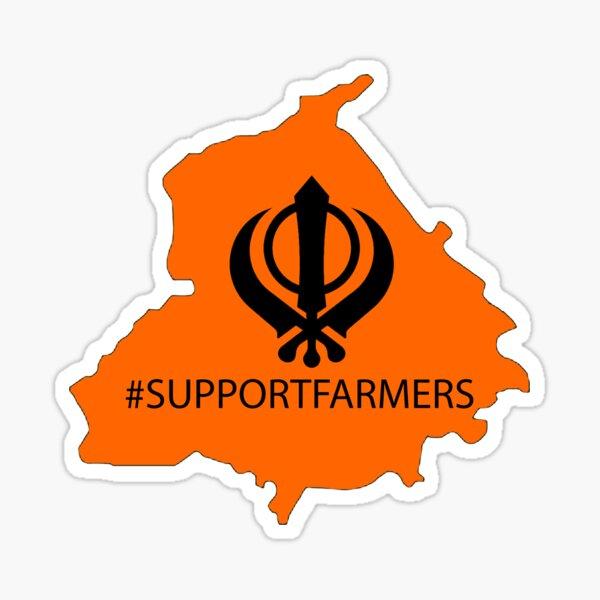 Support Punjabi Farmers - Kisan Sticker