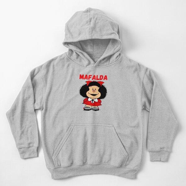 mafalda the world will adjust, mafalda triple Sudadera con capucha para niños