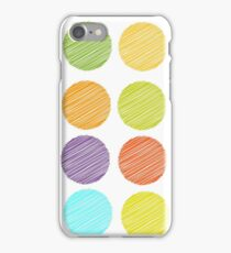 Rainbow colour Polka dot background iPhone Case/Skin