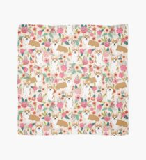 Corgi floral flowers spring garden nature pet pets friendly cute puppy corgis welsh corgi dog Scarf