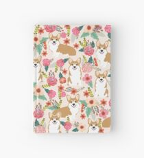 Corgi floral flowers spring garden nature pet pets friendly cute puppy corgis welsh corgi dog Hardcover Journal