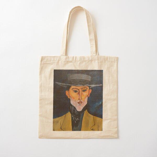 Hombre con sombrero (Modigliani) Bolsa de algodón