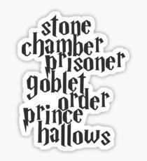 Stone Chamber Prisoner Goblet Order Prince Hallows Sticker