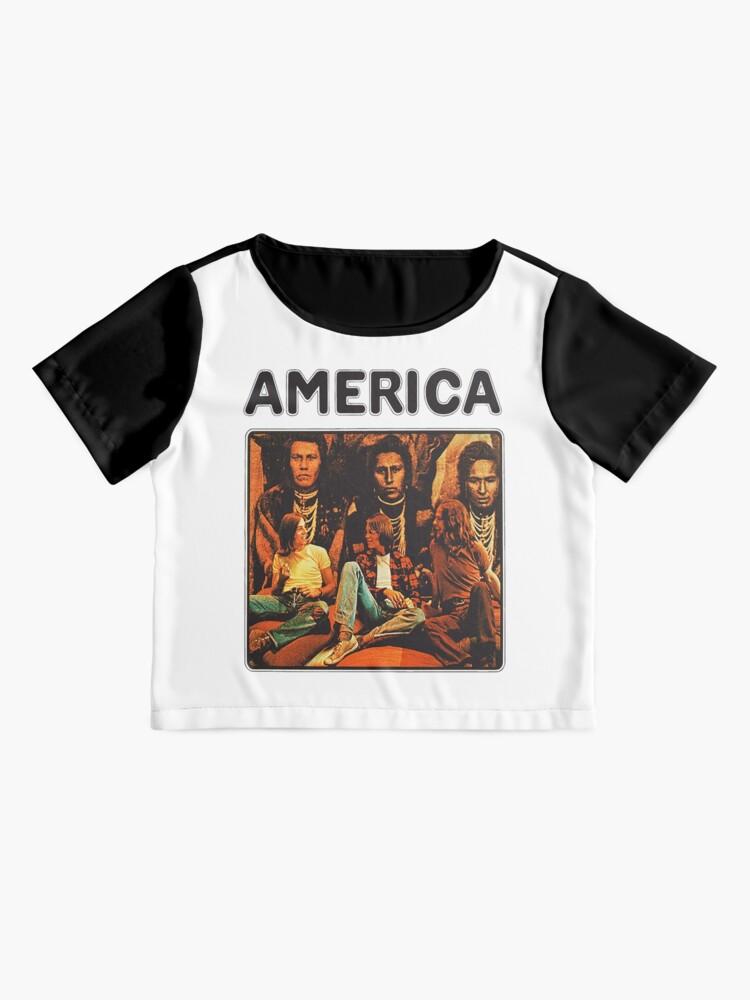 Alternate view of America 1971 band Chiffon Top