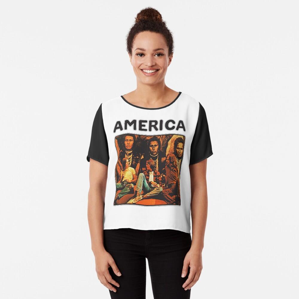 America 1971 band Chiffon Top