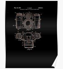 Photographic Camera Patent 1962 Poster