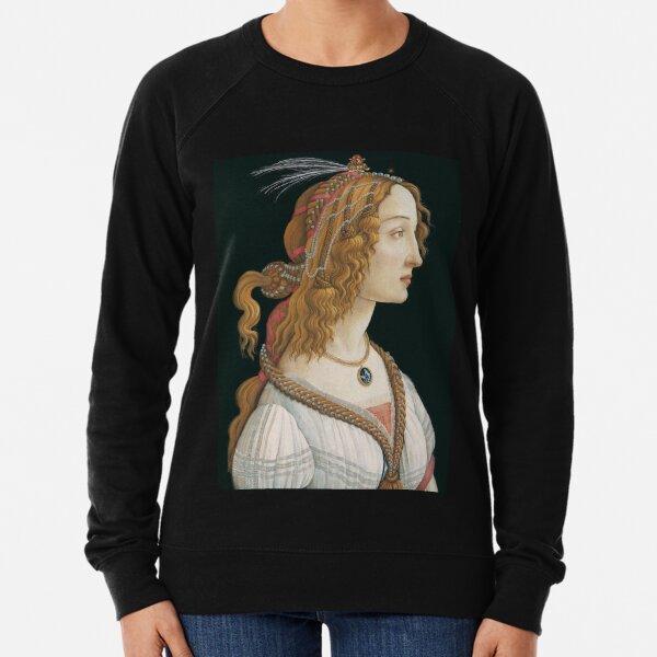 Sandro Botticelli - Portrait of a Young Woman  Lightweight Sweatshirt