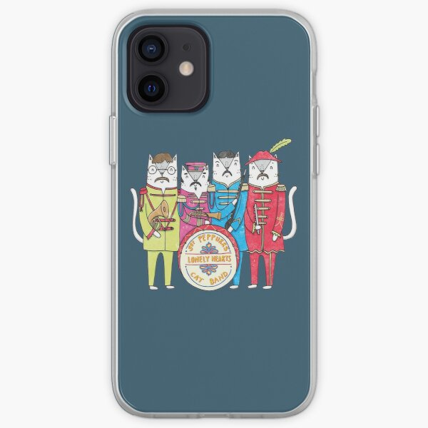 SGT Peppurrs Lonely Hearts Cats Band iPhone Case & Cover by DprintGB