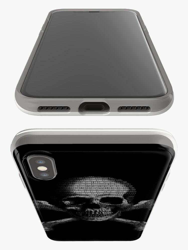 Alternative Ansicht von Hacker-Schädel iPhone-Hülle & Cover