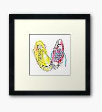 sneakers romance Framed Print