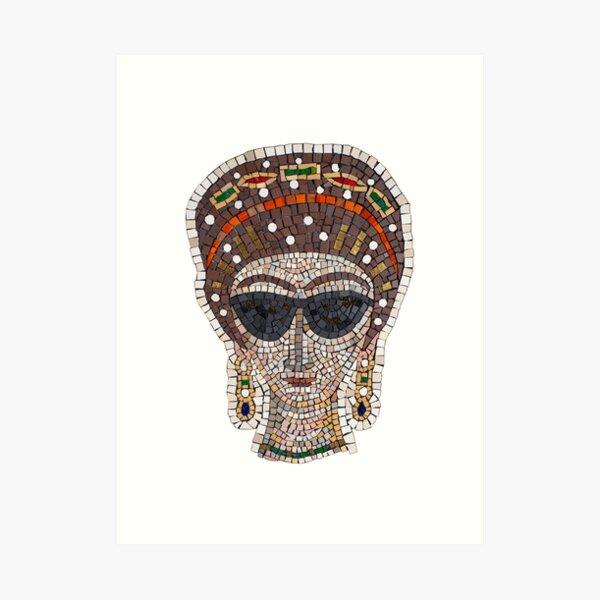 Empress Theodora incognito mosaic  Art Print