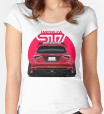 Speedhunters - RED Subaru Impreza WRX STI Women's Fitted Scoop T-Shirt