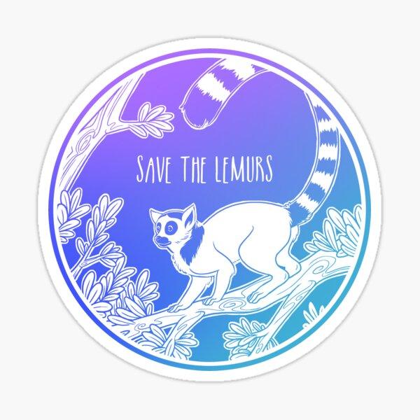 Save the Lemurs! Sticker