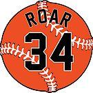 No. 34 Orange Baseball (Roar) by canossagraphics