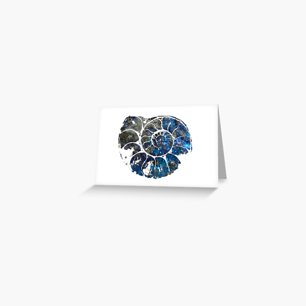 Ammonite print Greeting Card